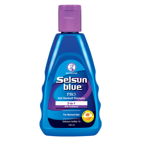 Selsun Blue 120ML Bottle Pro Anti-Dandruff 2-in-1 Shampoo and Conditioner (Blue)